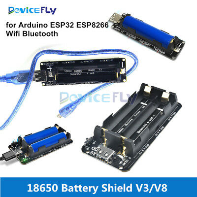 Mobile Power Bank 18650 Battery Shield V3/V8 3V 5V Micro USB for ESP32 ESP8266