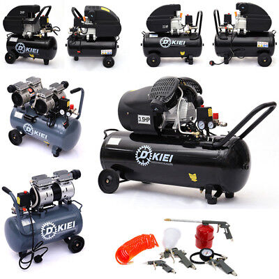 25L 50L Litre Air Compressor & Tool Kit Oil-lubricated /Low Noise Oilless Choose