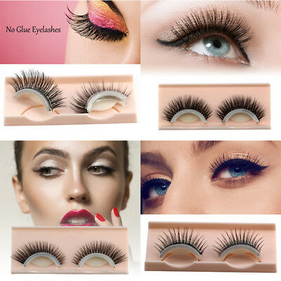 Reusable Self-Adhesive Natural Curly Eyelashes Extension Valentine's Day Gift GF