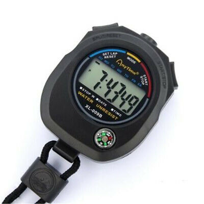Sports Outdoor Waterproof Alarm Stopwatch Counter LCD Electronic Wristwatch