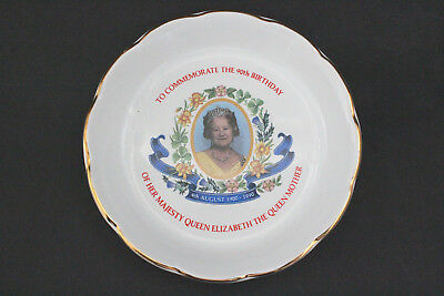 RINGTONS Wade Ceramic Queen Elizabeth Queen Mother 90th birthday trinket dish.