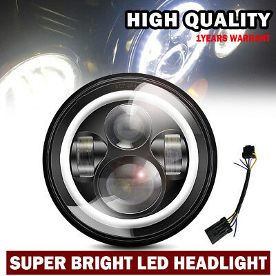 "7"" LED Motorcycle Daymaker Black Headlight Harley Street Glide Softail FLHX FLD"