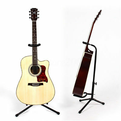 Guitar Vertical Floor Frame Acoustic Holder Electric Stand Rack Tripod Folding