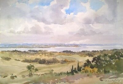 Arthur Victor Coverley-Price Signed Original Painting River Severn near Chepstow