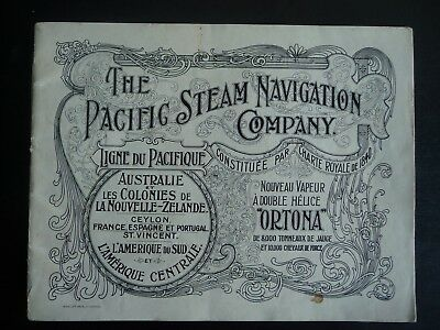 """Catalogue """" The Pacific Steam Navigation Compagny """""""