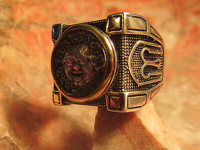 Authentic Ancient Greek Silver Medusa 5th-4th C , B.C gorgoneion Mens Ring!