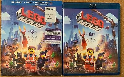 The Lego Movie Blu Ray Dvd 2 Disc Set + Slipcover Sleeve Free World Shipping