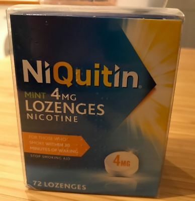 NIQUITIN MINT 4mg LOZENGES X 72 - JUST OUT OF DATE