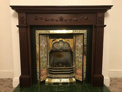 Complete tiled fireplace