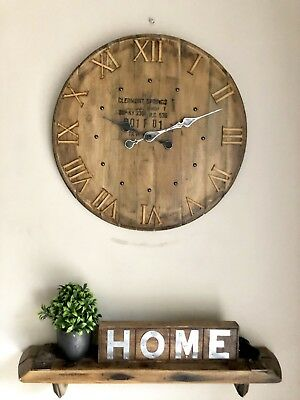 Clocks - Large Clock - Wall Clock - Rustic Clock - Clermont Springs Barrel Lid