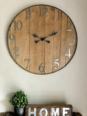 Clock - Wall Clock - Rustic Clock - Large Clock - Scotch Whisky - Barrel Clock