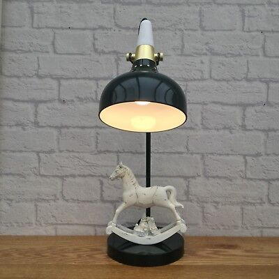 Retro Upcycled Repurposed Quirky Unique Rocking Horse Table Lamp