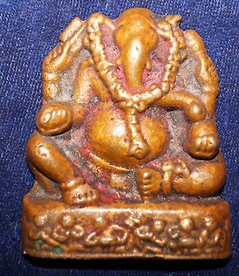 Antique Copper Ganesha Statue Figure From India Size 2.50 Inch