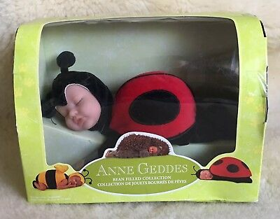 Anne Geddes Bean Filled Collection LadyBug Baby New In Box