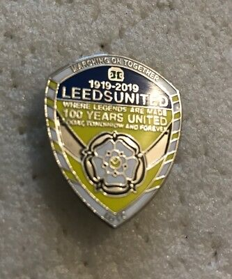 Very Rare Leeds United Supporter 1919~2019 100 Year Commemorative Badge