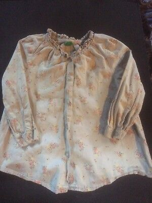 Baby Girl United Colors Of Benetton 12-18 Months Blouse Floral Vintage Ditsy