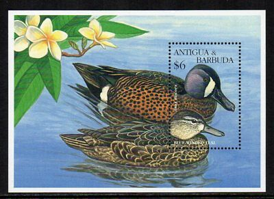 ANTIGUA & BARBUDA - 1995, $6 Blue Winged Teal, MNH Mini-Sheet