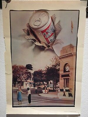 Vintage Budweiswer Poster, King Of Beers