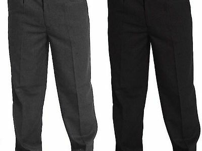 EX S SCHOOL STURDY FIT TROUSERS Kids Boys Variate SIZE Half&Button  ELASTICATED