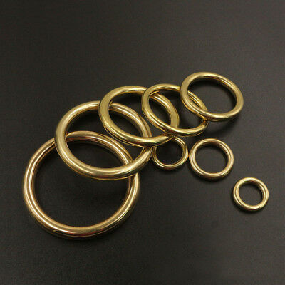 Solid Brass Cast Closed O Rings Leather Bag Strap Collars Crafts Webbing Buckle