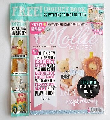 Mollie MAKES Magazine - Issue 83 with Free Crochet Book
