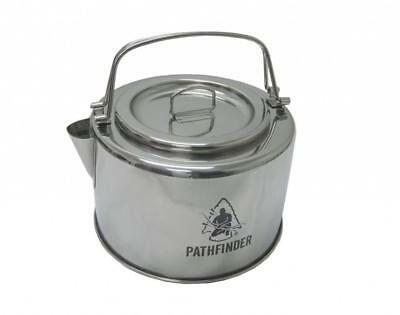 Pathfinder 1.2L Stainless Steel Camp Kettle & Filter Bushcraft Camping