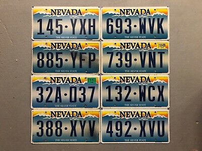 One Nevada License Plate The Silver State Flat Random Letters/numbers