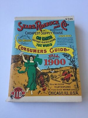 Sears Roebuck And Co. Fall 1900 Catalog Reproduction 1970 Collectible