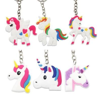 120x Unicorn Keyring Magical Silicone Girl Bag Pendant Keychain T001 a F01