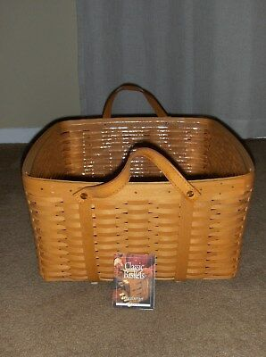 Longaberger  Baskets  Medium  Washday Basket And Protector No Reserve