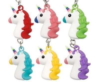 120x Unicorn Keyring Magical Silicone Girls Bag Pendant Keychain 3D T002 a F01