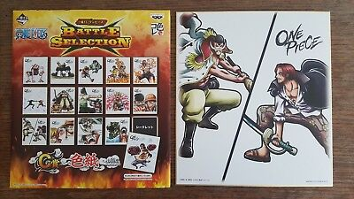 One Piece ICHIBAN KUJI BATTLE SELECTION Shanks and Edward Newgate Shikishi