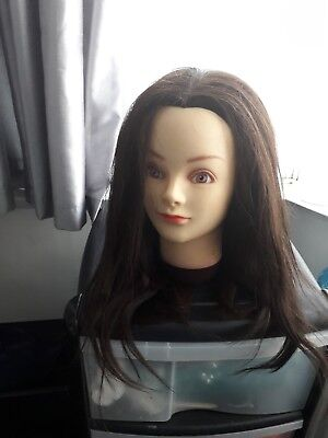 "Mannequin head  20"" Hairdressing Practice Doll With Clamp, & other bits."