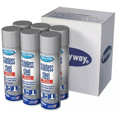 Sprayway Stainless Steel Cleaner and Polisher 15 oz., 6 pk.FREE SHIPPING