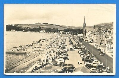 Victoria Esplanade And Beach,largs.real Photographic Postcard Posted 1959