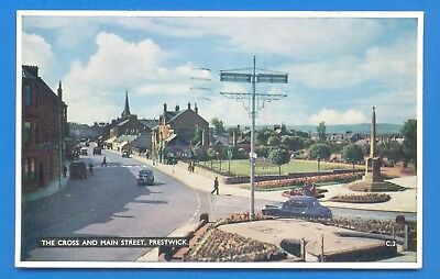 The Cross And Main Street,prestwick.postcard