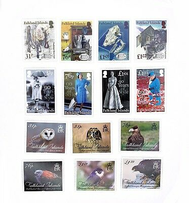 3 x sets of Falkland Islands 2016 MNH Postage Stamps - Dockyard 90 Years Birds
