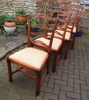 Bevan Funnell Reprodux Mahogany Dining Chairs~Set Of Four~High End Quality