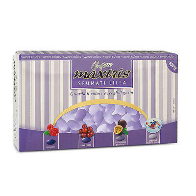 Maxtris Assorted Lilac Purple Sugared Almonds Wedding Favours 1Kg