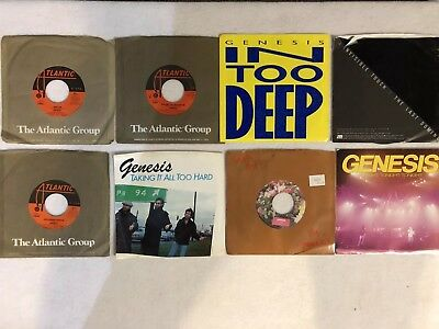 Lot of (8) 45 RPM Records by Genesis