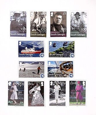 3 x sets of South Georgia SSI 2016 MNH Postage Stamps - 90 Years Endurance IAATO