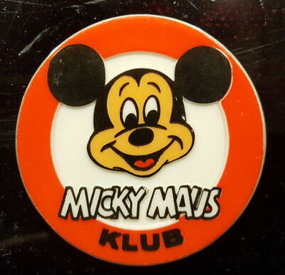 Micky Maus - Mickey Mouse - Ansteckbutton (Mickey Mouse Club) - ca. 40 Jahre alt