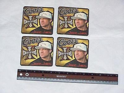 GENUINE Original JESSE JAMES CFL Coors Beer WEST COAST CHOPPERS Coasters Lot Set