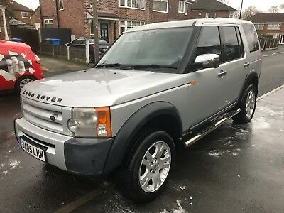 2005 05 reg LAND ROVER DISCOVERY 3 2.7 TDV6 7 SEAT Only 80k miles Silver