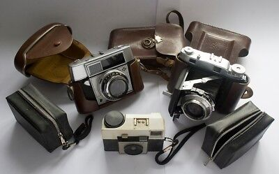 Collection 4 Old Retro Vintage Photography Collectable Cameras