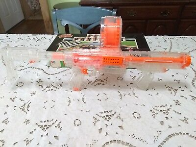NERF RAIDER CS-35 N-STRIKE MACHINE GUN Drum Clear plastic&orange