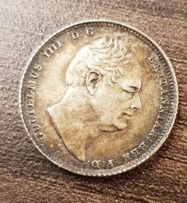 United Kingdom 1834 Sixpence Coin 6d William IV