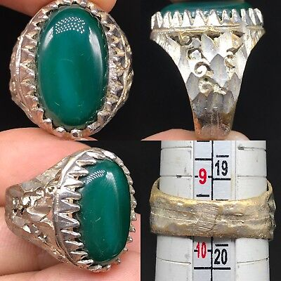 Medieval Beautiful silver mix Old wonderful Natural Agate stone Ring
