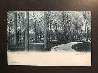 In The Carthage City Park By Tuck Postcard Carthage Missouri