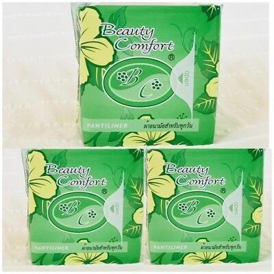 3 packs of Beauty Comfort Pantiliners Bio Sanitary Pad for Daily Care 20 Pads